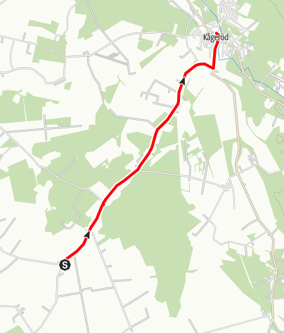 Karta / Birgittavägen, Halmstads kyrka- Kågeröds kyrka