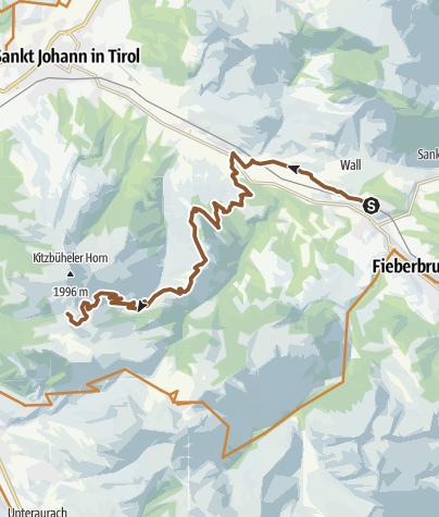 Karte / Ausfahrt Fieberbr-Horn MTB Aug2020