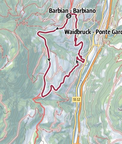 Map / Barbiano/Barbian -S. Ingenuino/Saubach -Colma-Barbiano/Barbian