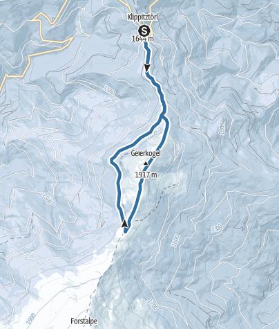 Mapa / K Schneeschuhwanderung Geierkogel