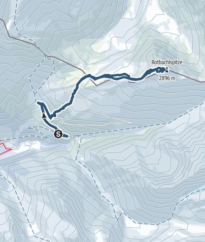 Karte / Rotbachlspitze (2.898 m) - Im Angesicht von Hochferner und Schrammacher