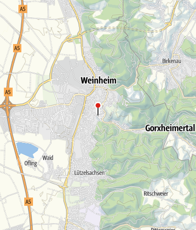 Map / Hotel Goldener Pflug in Weinheim