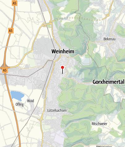 Karte / Hotel Goldener Pflug in Weinheim