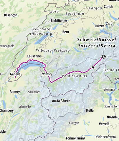 Map / Rhone Route