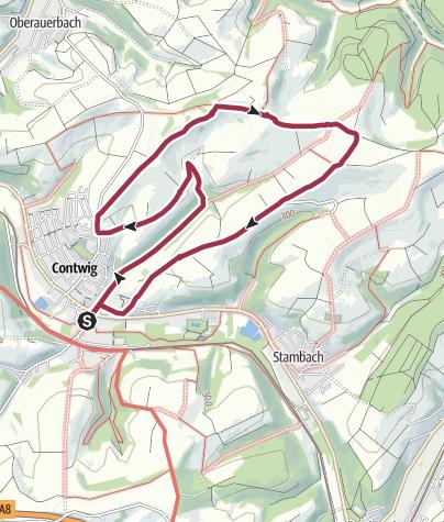 Karte / Wandern in unserer Verbandsgemeinde Zweibrücken-Land - Kurzstrecke