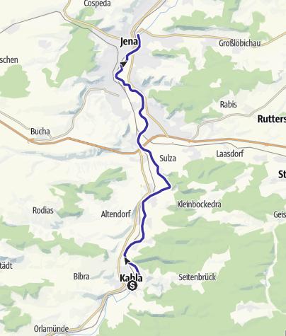 Map / Saale - Wasserwandern von Kahla bis Jena Gries - Etappe 8