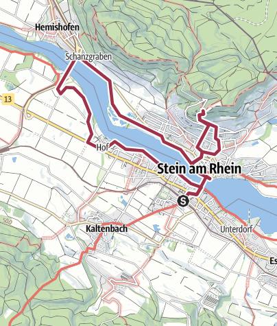Map / Stein am Rhein Easy Family Hike