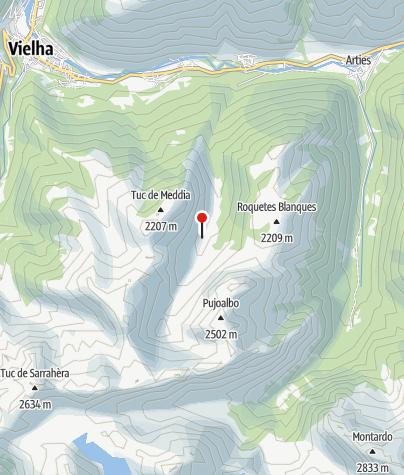 Karte / Refugi de Escunhau (Biwak)
