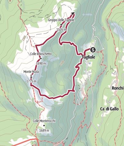 Map / Tagliole-Monte Nuda