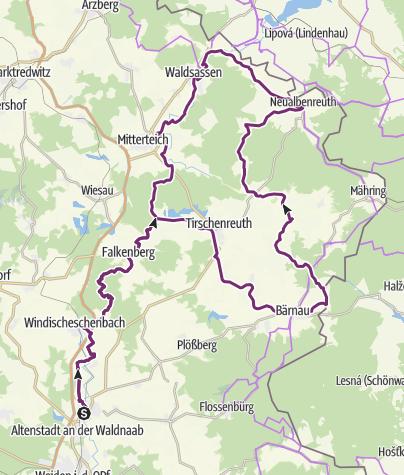 Map / Oberpfälzer Radl-Welt - Erlebniswelt Zoigl & Fisch