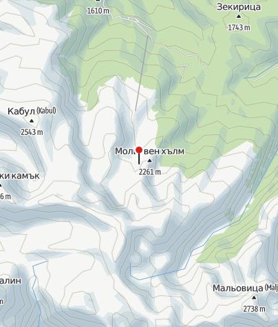 Karte / Hütte Sedemte Ezera