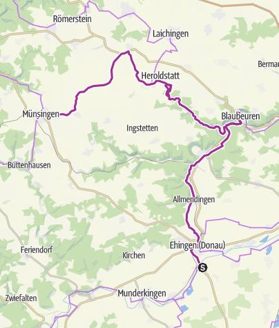 Karte / Münsingen e-Bike - Berg Bier-Tour Tag 2