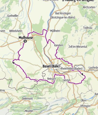 Carte / DREIECKLAND  BASEL 200km