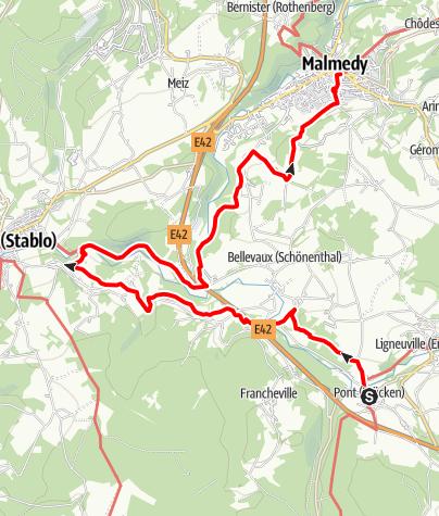 Carte / GR 56 - Etape Pont-Malmedy