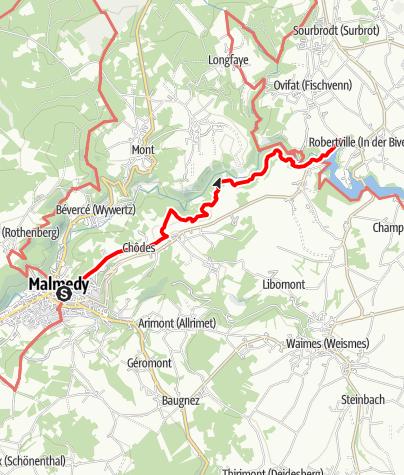 Carte / GR 56  - Etape Malmedy / Robertville