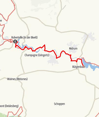 Karte / GR 56 - Etappe Robertville / Bütgenbach