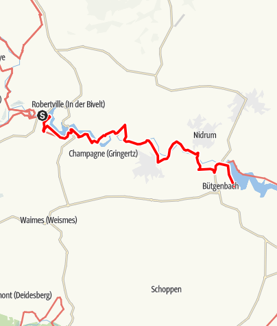 Carte / GR 56 - Etape Robertville/Bütgenbach