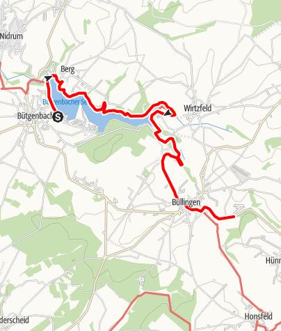 Kaart / GR 56 - Tour Bütgenbach / Büllingen
