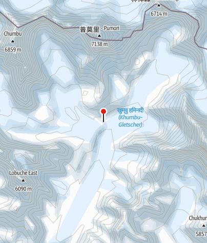 Karte / Gorak Shep 5140m