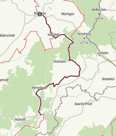 Map / GR 56 - Etappe Büllingen / Schönberg