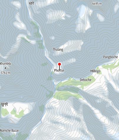 Karte / Phortse 3850m