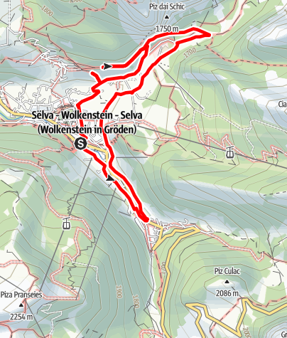 "Map / ""Ntëur Sëlva"" – Around Selva"