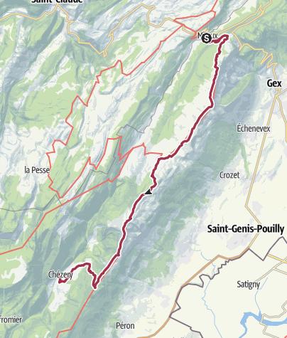 Map / [St-Claude] Balcons du Léman (2j)