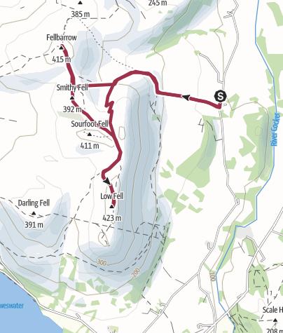 Map / Low Fell and Fellbarrow