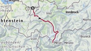 地图 / Alpenüberquerung E5 ohne Hilfsmittel in sieben Etappen