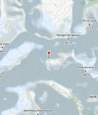 Karte / Refuge Glacier Blanc