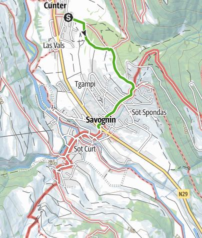Map / Cunter - Badogna - Lareschs - Savognin