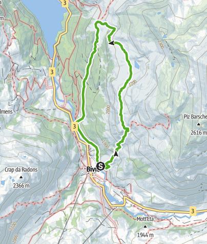 Karte / Bivio - Alp Natons - Bivio