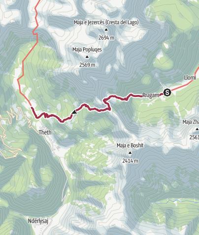 Térkép / Valbona - Theth hike 2020