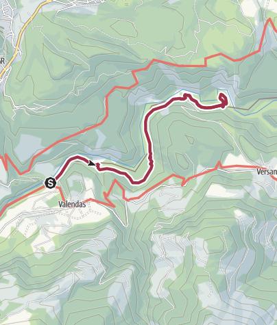 Karte / Rheinschlucht: Valendas - Versam