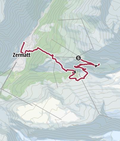 Карта / 5 lakes Zermatt