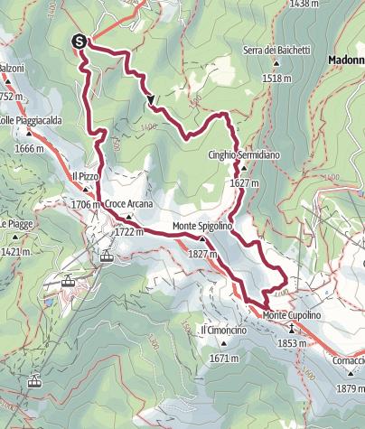 Map / Cap.Tassoni-L.Scaffaiolo-M.Spigolino-Croce Arcana