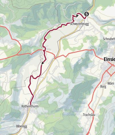 Karte / Wanderung Biberbrugg – Rothenthurm