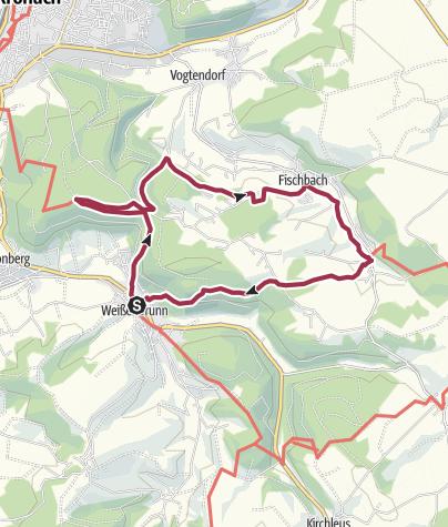 Karte / FrankenwaldSteigla Stübengrabenweg