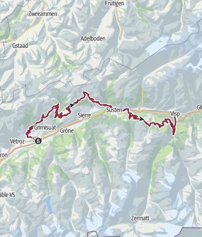 Map / Valais Panorama Bike
