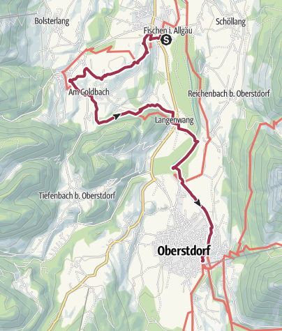 Map / Fischen to Oberstdorf via others