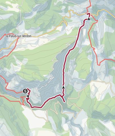 Karte / Durch die Verdonschlucht bei Rougon