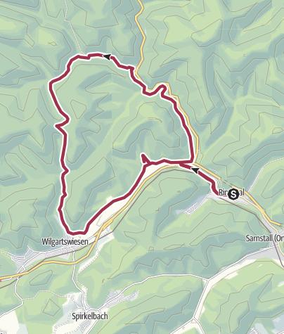 Karte / Rinnthal, 15 km (13 bzw. 16 km sind möglich), mittelschwer.