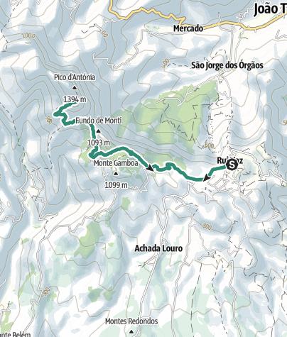 Auf den Pico d'Antónia von Rui Vaz (Insel Santiago, Kapverden - Cabo Cabo Verde Maps on