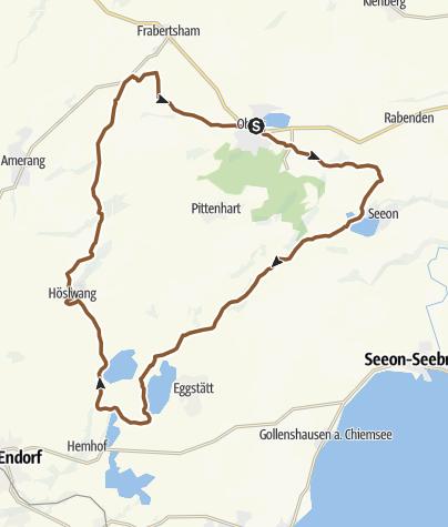 Karte / Radltour Obing - Stephanskirchen - Obing