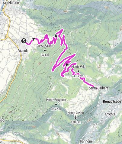 Cartina / Monte Velo