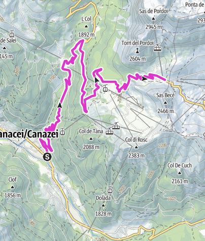 Map / Passo Pordoi