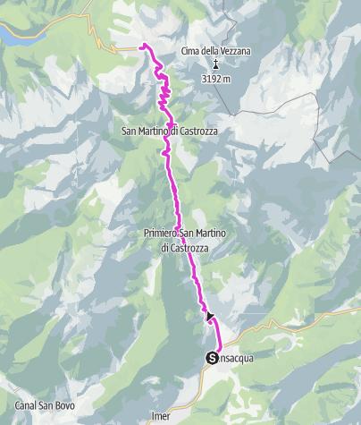 Cartina / Passo Rolle - Primiero