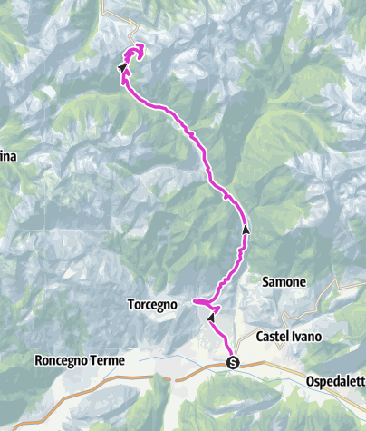 Karte / Passo Manghen - Valsugana