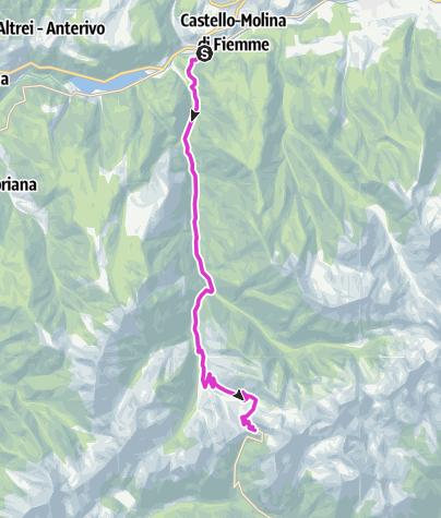 Karte / Passo Manghen - Fiemme