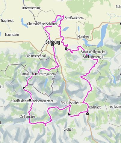 Map / Rennradtour SalzburgerLand Gesamtverlauf
